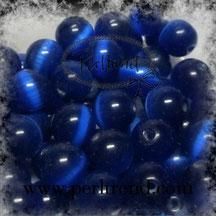 Katzenaugen-Perlen Königsblau