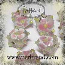 Perlen Glas Würfel Flower www.perltrend.com