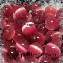 Katzenaugen-Perlen Rosa