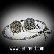 Silber Perlen Filigran www.perltrend.com