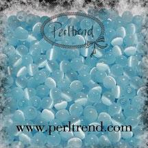 Katzenaugen-Perlen Baby Blau