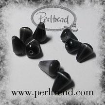 Katzenaugen Perlen schwarz www.perltrend.com