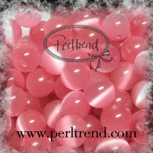 Katzenaugen-Perlen Hellrosa