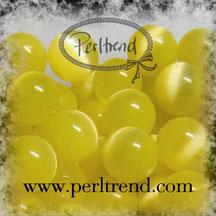 Katzenaugen-Perlen Gelb