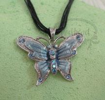 Halsbänder Stoff mit Schmetterling