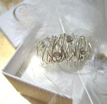 Finger Schmuck Silber Zirkonia Wire