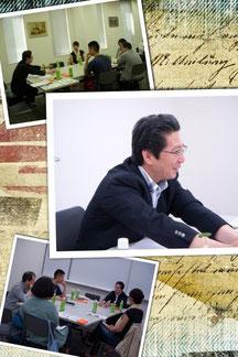 ◇美野田代表と説明会の様子