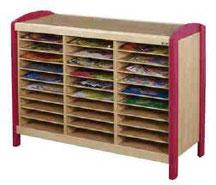Meuble de rangement 30 casiers, mobilier pour petite enfance, assistantes maternelles à acheter pas cher.