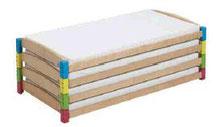 Lit modulaire à utiliser seul ou empilable, mobilier pour petite enfance, assistantes maternelles, RAM à acheter pas cher.