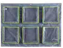 6 pochettes de rangement de doudous horizontal, mobilier pour crèches et petite enfance. Meuble d'accueil 6 pochettes de rangement de doudous horizontal, mobilier pour petite enfance, assistantes maternelles, RAM à acheter pas cher.