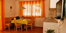 Wohnküche mit direkten Zugang zum Garten