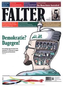Ein Cover für die Wiener Zeitung FALTER zu einer damals medial vielfach diskutierten Studie der österreichischen Regierung. © Niels Schröder für den FALTER