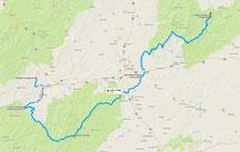 Strecke: 6. Tag (Google Maps)