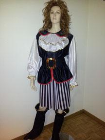 Piratin / Zigeunerin, Fr.30.- M-XL tragbar, mit Stoff-Stiefelstulpen