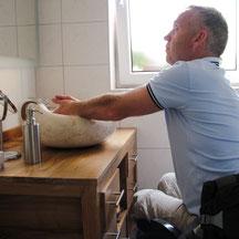 barrierefrei behindertengerecht Rollstuhlfahrer Ferienwohnung  Wellness-Ferienhof am Rebgarten