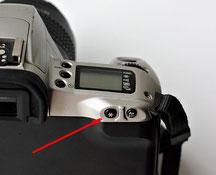 Кнопка фиксации экспозиции на Canon EOS 300