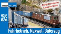 Fahrbetrieb: Rexwal-Güterzug