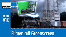 Filmen mit Greenscreen