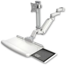ポールマウント 支柱取付 ガススプリング内蔵 昇降式 ディスプレイキーボード用ワークステーションアーム VESA:ASUL180IEV7-P15-KUB-AS1