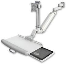 医療向け ウォールチャネルマウント 昇降式 ディスプレイキーボード用アーム VESA : ASUL182IEV7-W5-KUP-AS1