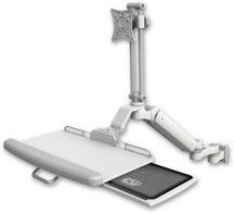 医療向け ウォールチャネルマウント 昇降式 ディスプレイキーボード用アーム VESA:ASUL182EV7-W5-KUP-AS1