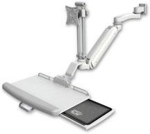 医療向け ウォールチャネルマウント 昇降式 ディスプレイキーボード用アーム VESA :ASUL182IEV7-W5-KUP-A1