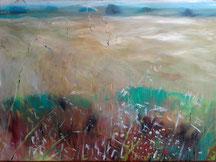 Barbara Saatze, Kornfeld, Acryl 70 x 50 cm