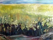 Barbara Saatze, Rapsfeld, Acryl 70 x 50cm