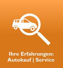 """Grafik: """"Gebrauchtwagen-Kauferfahrungen: das aaf-Bewertungsportal"""""""