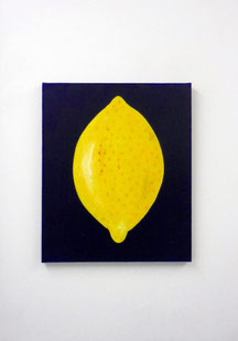 Citron, 2016, Acrylic on canvas, 55 x 46 cm