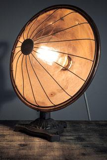vintage tischlampe aus kupfer und messingund led