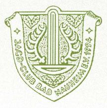 Wappen mit großem Sprudel von Heinz Ritt für den Jagd-Club Wetterau e.V.