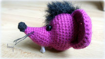 egér fej mouse head amigurumi