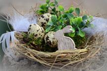 Osterkörbchen mit Dekoration
