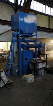 pour mouler des oeuvres d'art en bronze, nous avons installé ce Malaxeur  et offrir aux sculpteurs des moyens nouveaux pour couler des oeuvres d'art à mérignac près bordeaux 33