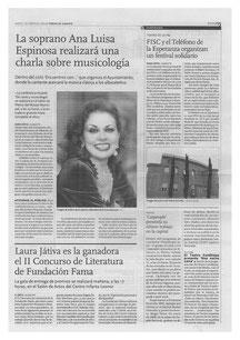 CHARLA DE CANTO
