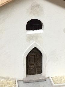 Eingangstür gefräst aus Massivholz