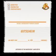 Gutschein Ponyhof Schanze