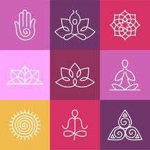 Yoga mit Claudia Gerwien Yogalehrerin BDY/EYU,Stock vectografiknr. 226258288