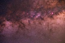 Vía Láctea y Nubes oscuras