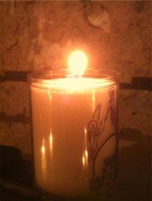 Flamme de la grotte de Marie-Magdeleine  à la Sainte Baume
