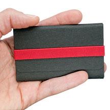 Kleine Geldbörse ohne Münzfach für Herren Damen schwarz rot RFID