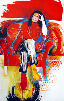 Birgit Doll, Acryl auf Leinen 110 x 180cm 1996