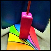 """Detail van Pindakaas pot houder """"Regenboog-Collectie"""""""
