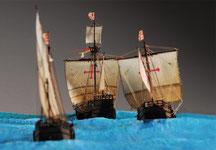 32-29 コロンブスの船団 The Ships of  Columbus      坪井悦郎 Etsuro Tsuboi