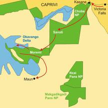 Botswana Flugsafaris Okavango Maun Viktoriafälle
