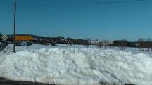 Blick im Hintergrund Streitau vom Dienstag den 05.03.2013 um 16:22 Uhr. Sonne pur. Noch ist eine geschlossene Naturschneedecke vorhanden. Temperatur 0°C bis gefühlte +10°C in der Sonne.