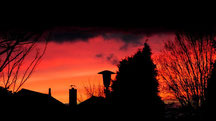 Sonnenuntergang vom 07.02.2014