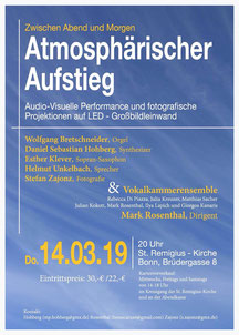 Konzept & Fotografie, Stefan Zajonz / Audio-Visuelle Performance / St. Remigius-Kirche, Bonn, Brüdergasse / DO. 14.3.2019 / 20 Uhr