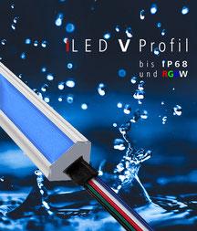 LED, Streifen, Profile, Außenleuchten, wasserdicht